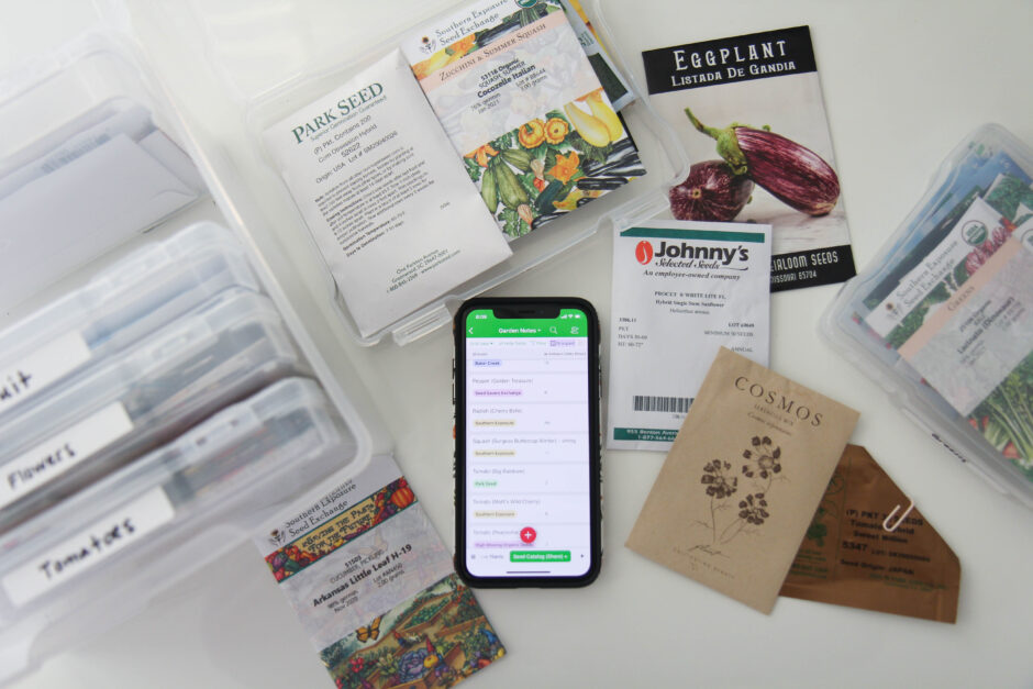 How I organize my seeds and plant information
